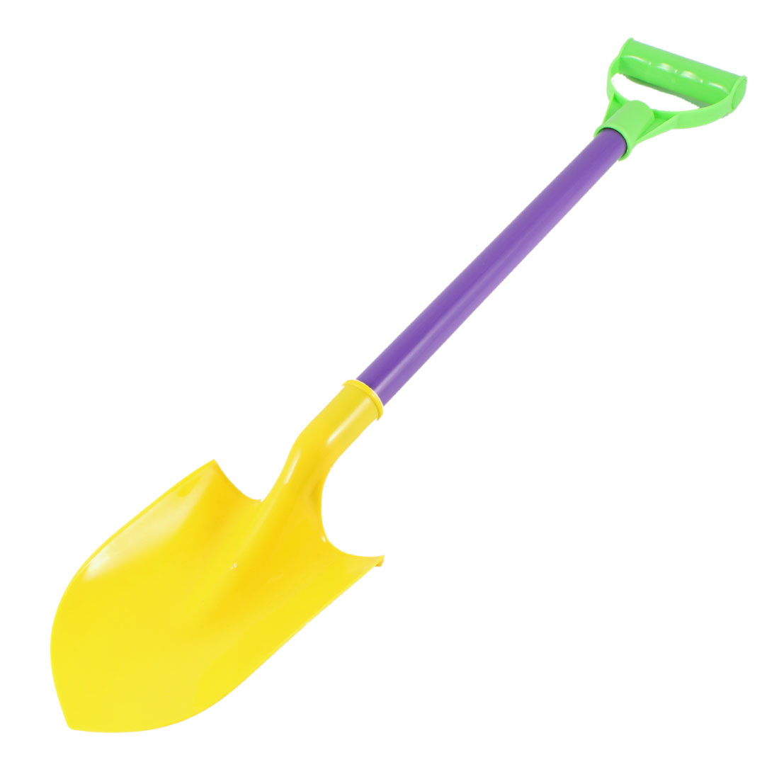 Children-Plastic-Grip-Beach-Sand-Shovel-Rake-Toy-Yellow