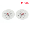 2 Pcs Silver Tone Skull Head Detail Decorative Bedge Sticker for Car