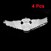 4pcs Silver Tone Wing Design Decor Decal Badge Stickers for Car Truck