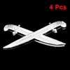 4PCS Silver Tone Plastic Sword Shaped Adhesive Car Automobile Sticker Badge