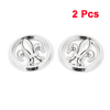 Car Exterior Decor Silver Tone Round Flower Shape Stickers Badge Emblem 2 Pcs