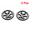 2 Pcs Adhesive Back Floral Design Plastic Sticker Decal for Car