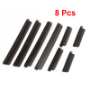 8 Pcs Black Soft Plastic Door Guard Sticker w Dual Adhesive Tape for Car