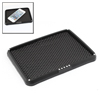 17.7cm x 13.5cm Black Soft Plastic Eyeglasses Phone Holder Mat for Car