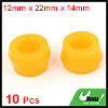 Vehicle Car 10 Pcs Orange Rubber Shock Absorber Bushings 16mm x 30mm x 18mm