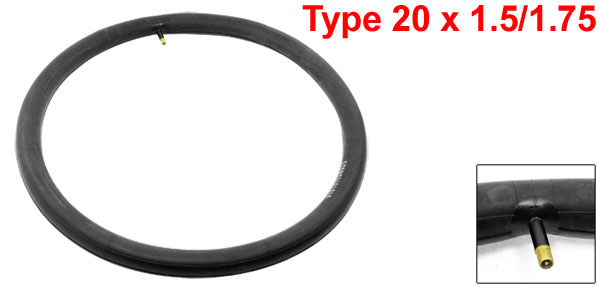 Bike Bicycle American Valve Black Rubber Inner Tube 20 x 1.5/1.75