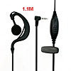 Single Side Black Earphone for Kenwood TK 260 360 370