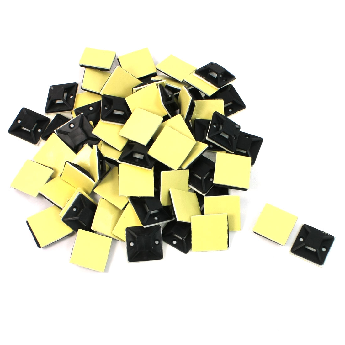 100-Pcs-Black-Plastic-Self-Adhesive-Cable-Tie-Mount-Base-Holder
