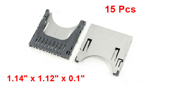 15 Pcs SD Memory Card Sockets 1.14