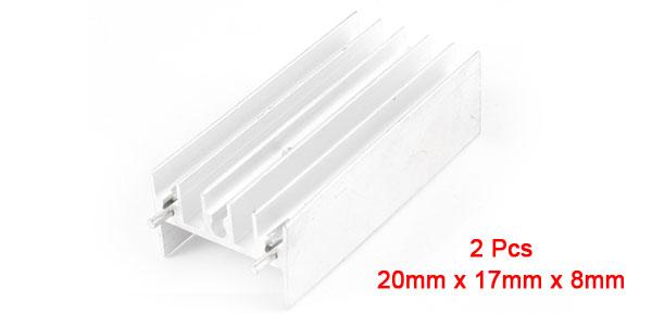 Heat Diffuse Aluminium Heat Sink Cooling Fin 50mm x 23mm x 15mm