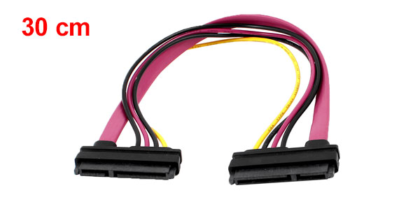 SATA 7+15Pin Female to Female Connector Combo Data Power Adapter Cable