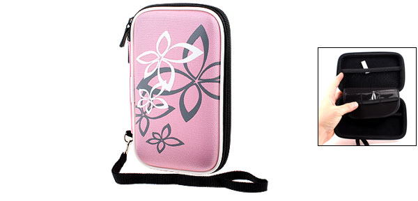 Pink Protective Case Bag Pouch Zipper Closure for 2.5