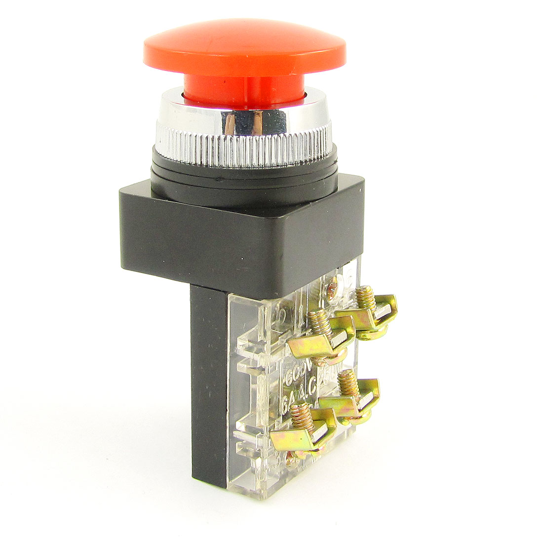 Red-Mushroom-Head-Momentary-Actuator-SPST-Push-Button-Switch-250V-AC-6Amp