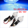 2 Pcs Carbon Fiber Pattern 13 Blue LED Motorcycle Turn Signal Light