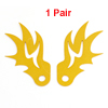 Pair Motorcycle Gold Tone Flame Shaped Screw In License Plate Decoration
