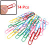 Office School Stationery Multicolor Metal Money Invoice Paper Clips 74 Pcs