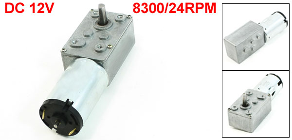 DC 12V 8300/24RPM 6mmx14mm Shaft Connecting Electric Power Geared Motor