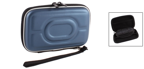 Zip-up EVA Carrying Case Sleeve Bag Pouch Dark Blue for 2.5