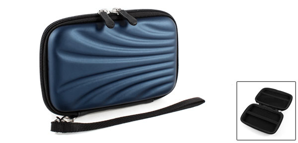 Zip-up EVA Carrying Case Cover Sleeve Bag Dark Blue for 2.5