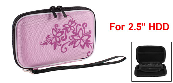Pink EVA Protect Case Bag Pouch Zipper Closure for 2.5