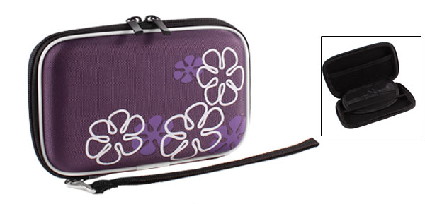 Purple EVA Hard Drive Disk Carrying Case Cover Pouch Zipper Closure for 2.5