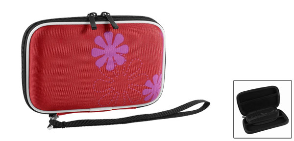Red EVA Protect Case Bag Pouch Zipper Closure for 2.5