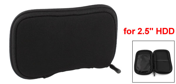 Zip-up Neoprene Sleeve Bag Pouch Carry Case Black for 2.5