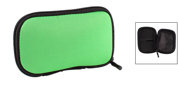 Zip-up Neoprene Sleeve Bag Pouch Carry Case Green for 2.5