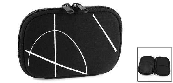 Zip-up Neoprene Protable Sleeve Bag Pouch Case Black for 2.5