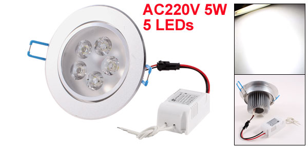 Home AC220V 5W 5 LEDs Warm White Light Recessed Ceiling Downlight Bulb