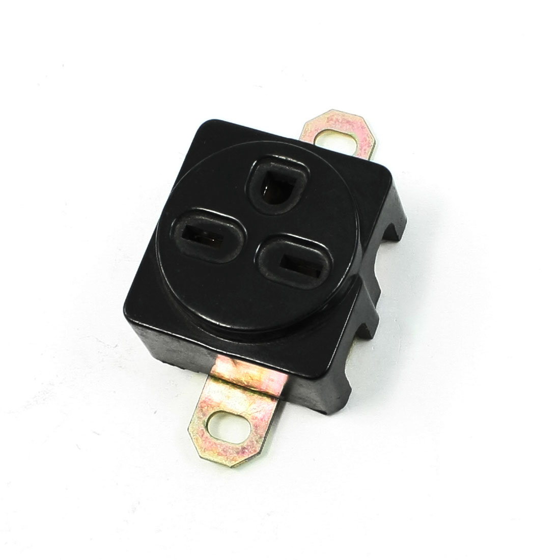Black-Plastic-250-V-15-A-Generator-Socket-for-3-Pins-Plug