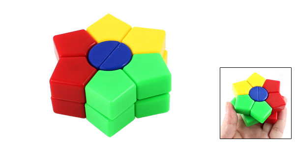 Colorful Plastic Intelligence Hexagon Shape Puzzle Hexagon Shape Toy for Children