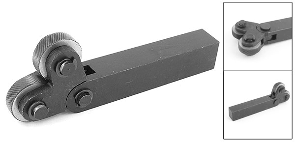 26mm Dia Dual Wheels 1.2mm Pitch Linear Knurl Knurling Tool