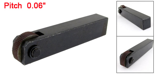 Black Metal Single Wheel 1.6mm Pitch Straight Linear Knurling Tool