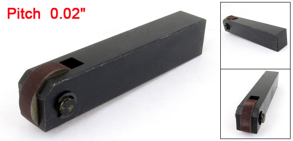 Black Metal Single Wheel 0.6mm Pitch Straight Linear Knurling Tool
