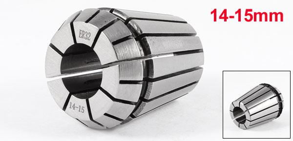 14-15mm ER32 Precision Spring Collet Chuck Silver Tone