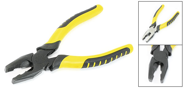 Yellow Black Rubber Coated Handle Wire Cutting Bending Linemen Pliers 8