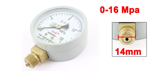 2.5 Accuracy Class 0-16 Mpa 14mm Thread Metal Shell Acetylene Pressure Gauge
