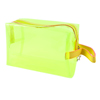Woman Travel Plastic Foldable Makeup Cosmetic Holder Bag Yellow Green