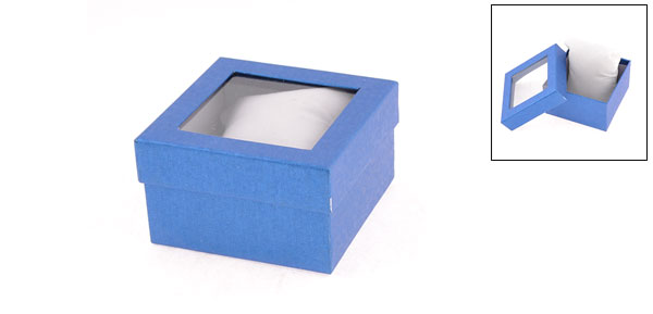 Blue Jewelery Bracelet Bangle Storage Box Case Casket Holder