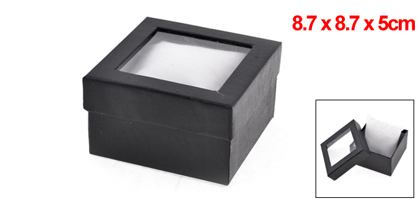 Gift Wrapping Bracelet Watch Display Box Holder Casket Black