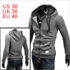 Men Drawstring Hooded Raglan Sleeve Soft Hoodies D...