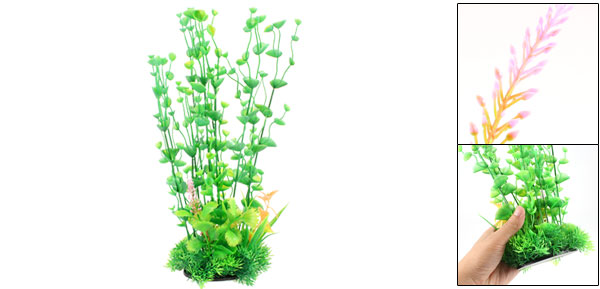 Fish Tank Decorative Green Plastic Grass Aquatic Plant 12