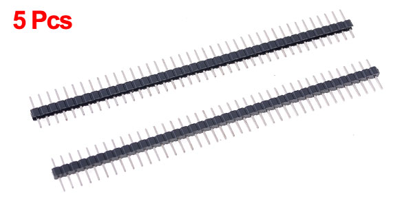 5 Pcs 1x40 Pin 2.0mm Pitch Single Row PCB Pin Headers Strip