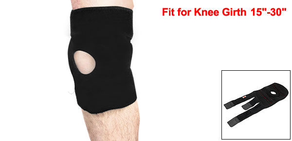 Hook Loop Fastener Magnetic Steel Spring Openings Knee Support Protector Black