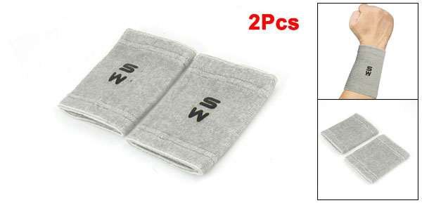 Basketball Gray Pullover Design Stretchy Protective Wrist Support 2 Pcs