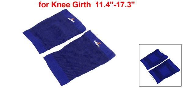 Pair Sports Elastic Knee Sleeve Support Pullover Protector Kneepad Black Blue