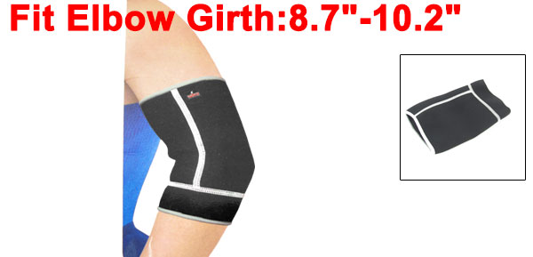 Outdoor Activity Elbow Forearm Support Brace Protector White Black