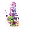 "Fish Tank Decorative Purple Green Plastic Grass Underwater Plant 9"" Height"