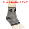 Black Gray Stripe Pattern Stretchy Ankle Support Protector